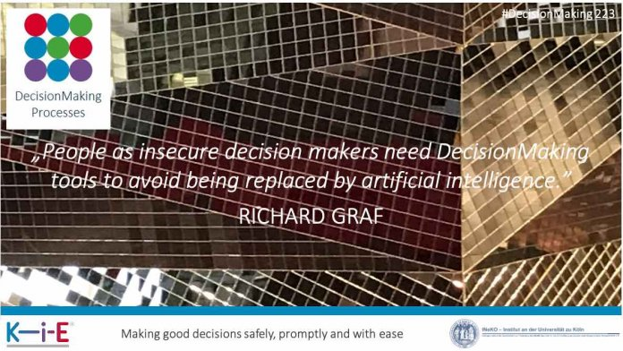 People as insecure decision makers need DecisionMaking tools to avoid being replaced by artificial intelligence