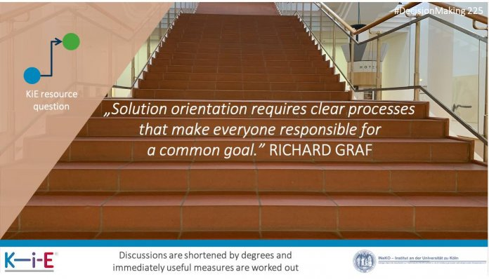 Solution orientation requires clear processes that make everyone responsible for a common goal