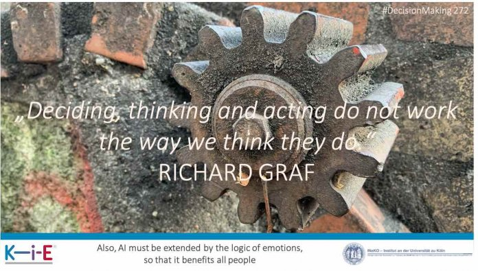 Deciding, thinking and acting do not work the way we think they do