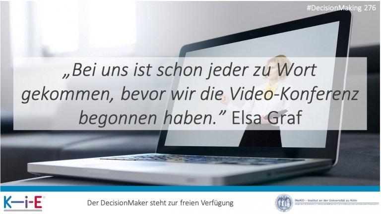 s276 Mit digitized DecisionMaking zu effektiven Video-Konferenzen