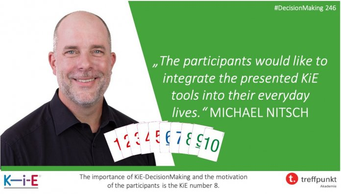 """""""The participants would like to integrate the presented KiE tools into their everyday lives immediately."""" Michael Nitsch"""