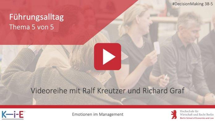 KiE diskutiert Emotionen im Management - Führungsalltag