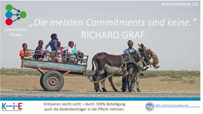 """""""Die meisten Commitments sind keine."""" RICHARD GRAF"""