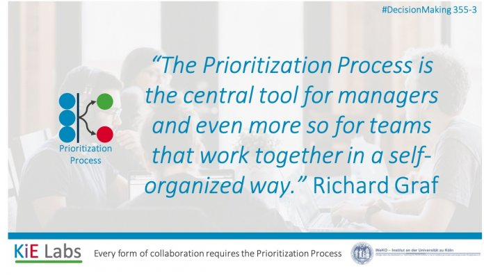 KiE Prioritization Process